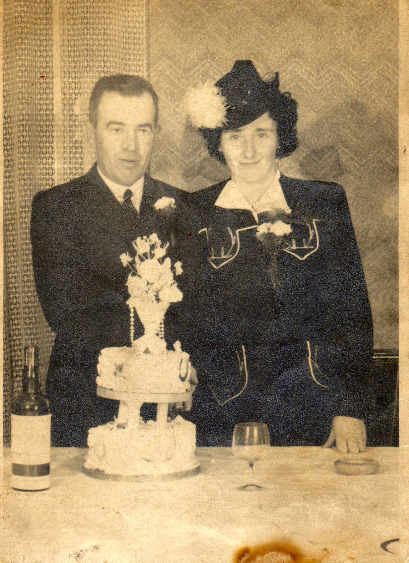 Phil McEntee and Kathleen Galligan's Wedding 1945